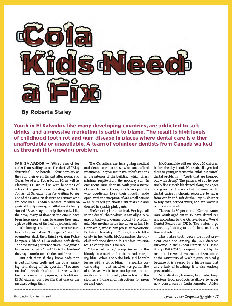 Cola Kids Need a Fix by Roberta Staley